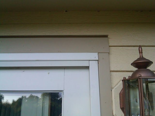 How To Install Exterior Trim Around A Sliding Door Installing Exterior Trim Needs To Be Done