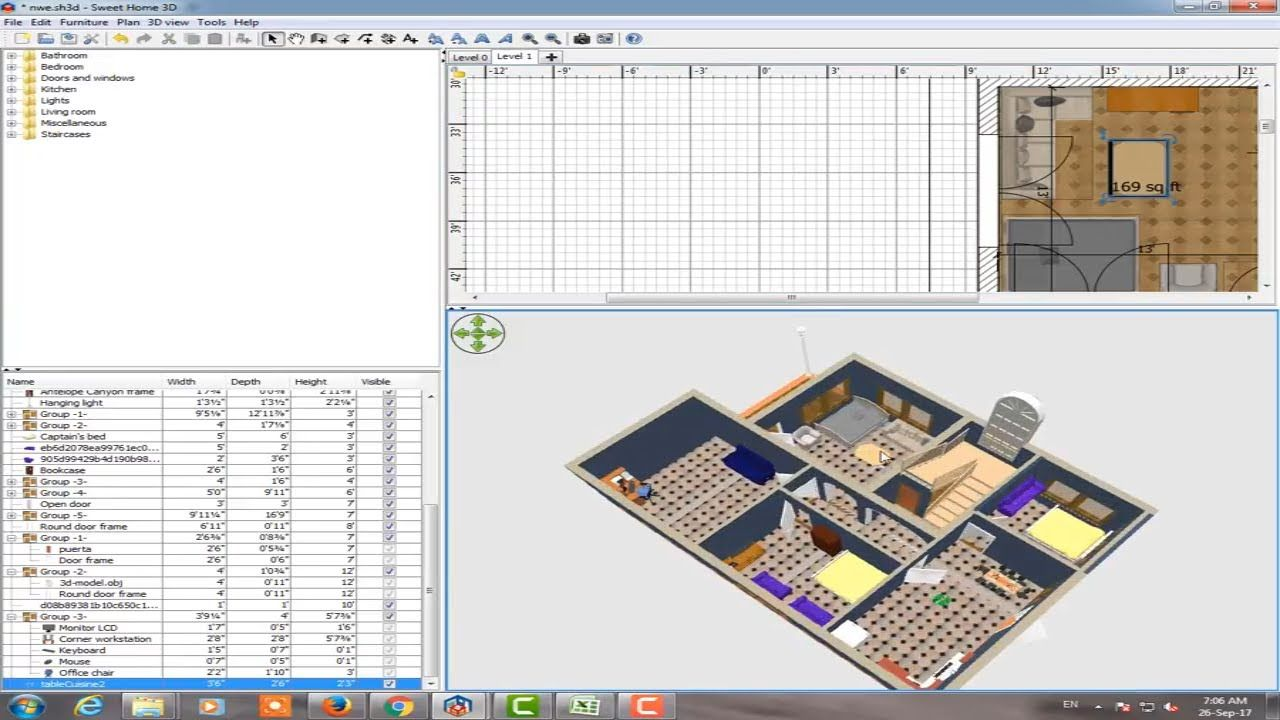 Pin On Sweet Home 3d Training Tutorial Part 5 Design And Decoration In Room Ground Floor