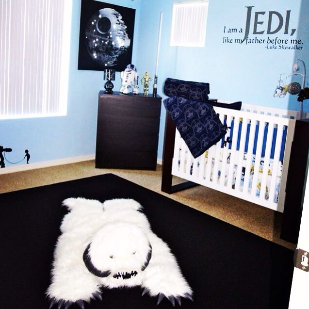 Better Shot Of The Star Wars Baby Room