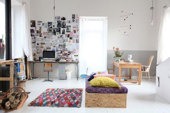 Aurelie Lecuyer Bolig Indretning Studiebolig Lejlighed Lille Stue Sovevaerelse Stue Lejlighed Sovevaerelse