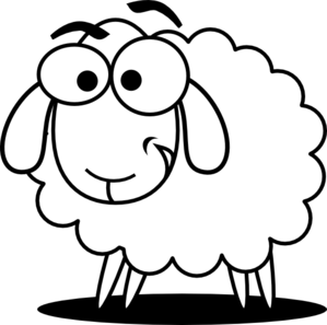 Pin By Keeping Ewe In Stitches On Blog Sheep Drawing Animal Cutouts Free Clip Art
