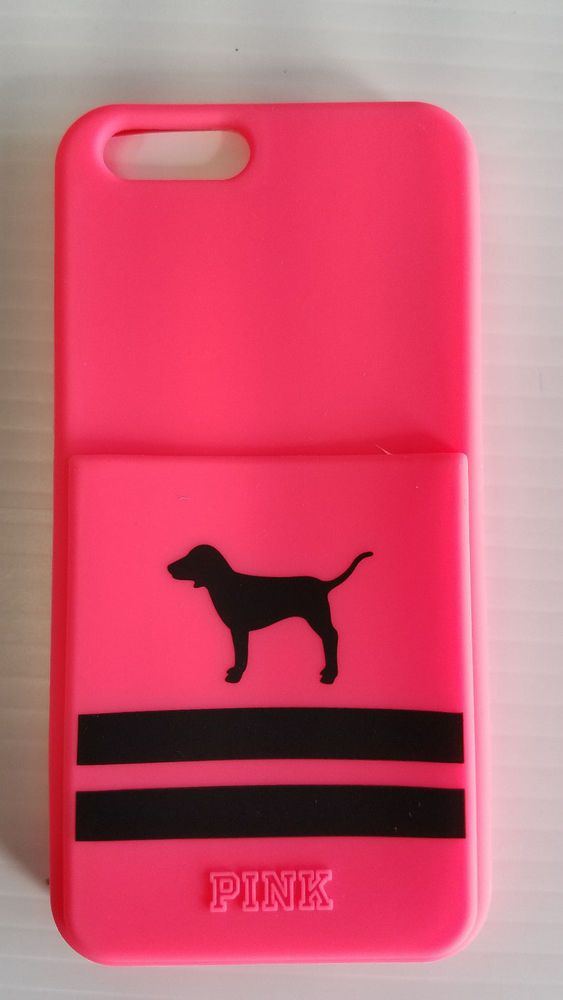 quality design 75c87 7d114 Victoria Secret PINK Iphone 6/6S With Card Holder Pink Dog Logo Soft ...