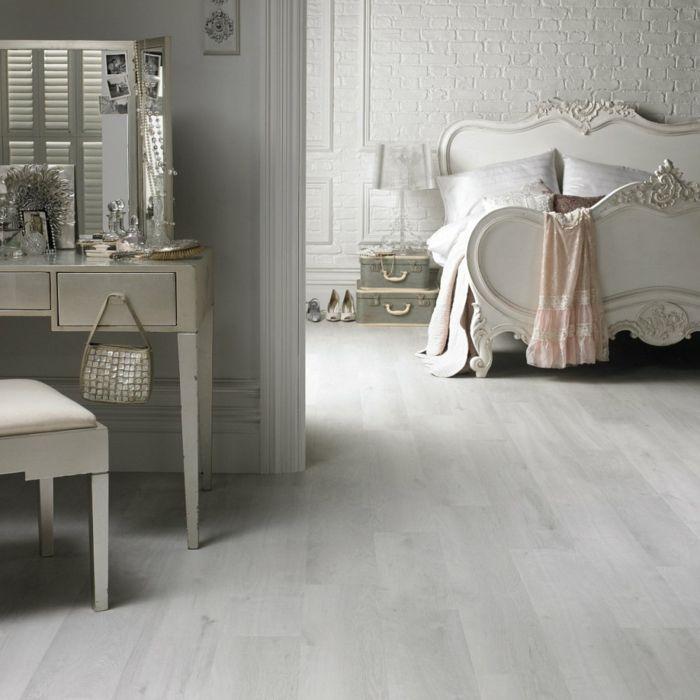 Moderne Bodenbeläge Schlafzimmer Helles Holz Inspiration - Bodenbelage schlafzimmer
