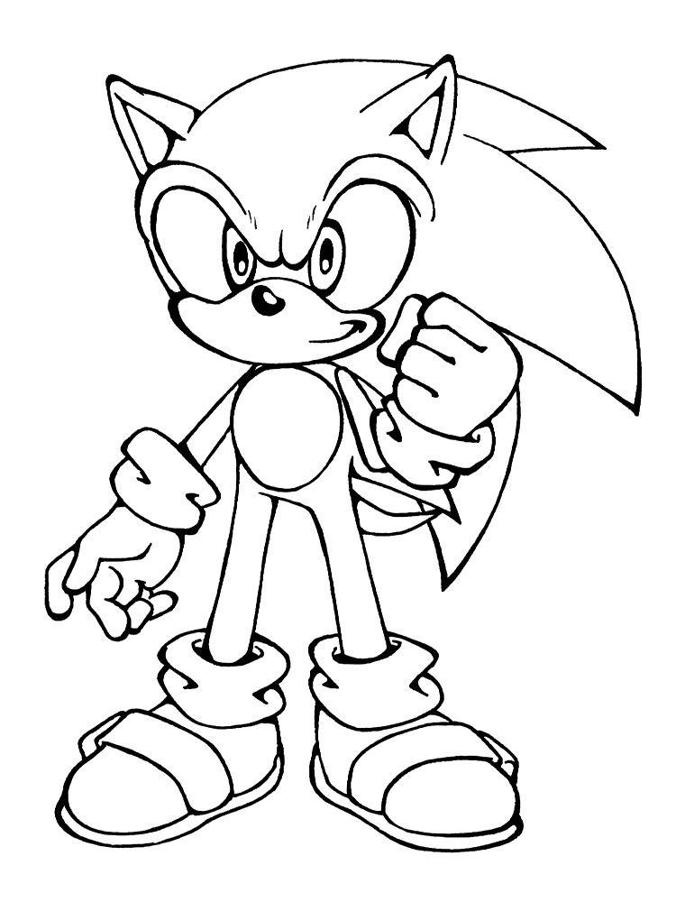 Dibujos para colorear   Sonic, para desarrollar la generación