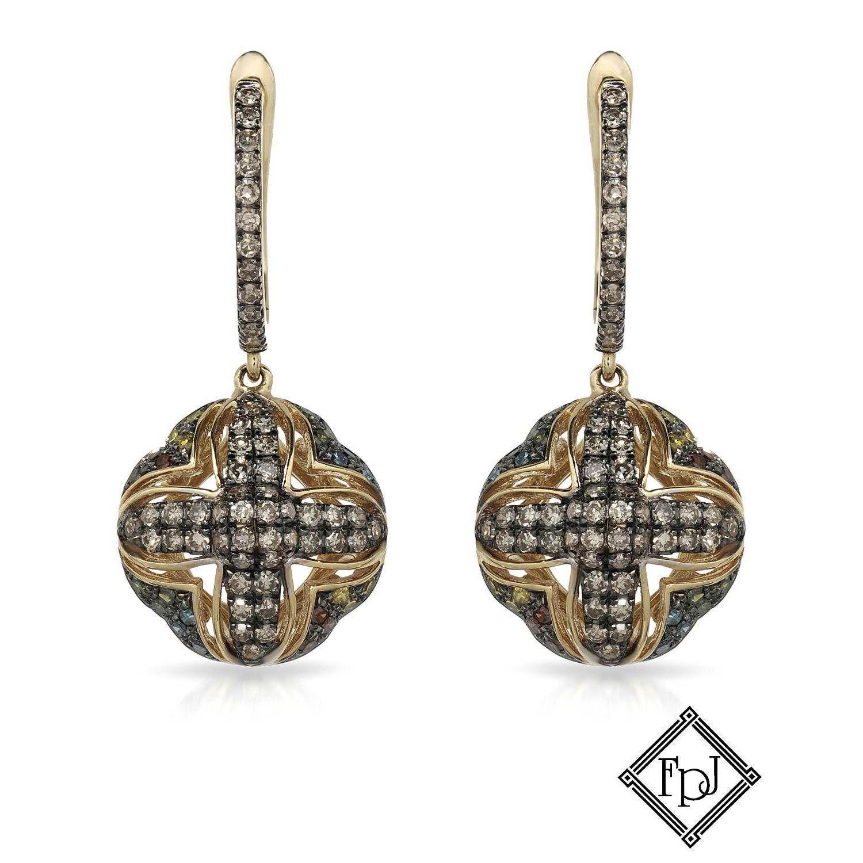 Fay Pay Jewels 14k Gold 1 1/10ct TW Diamond Earrings, Women's