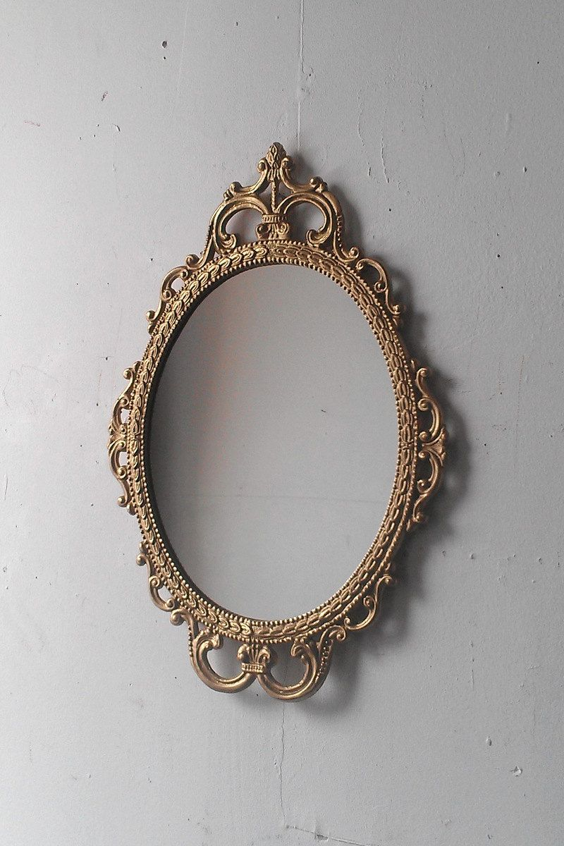 3bb0e10a3062 Gold Mirror in Vintage Oval Frame