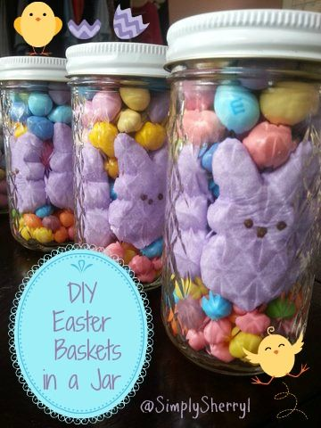 Diy easter baskets in a jar easter baskets easter and easter crafts diy easter baskets in a jar negle Choice Image