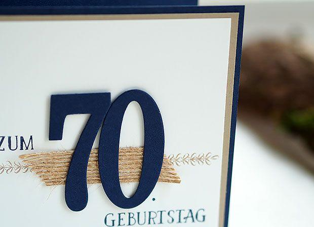 So Viele Jahre Bordueren Und Mehr Einladung 70 Geburtstag Stampinu0027 Up!  Bastelritter