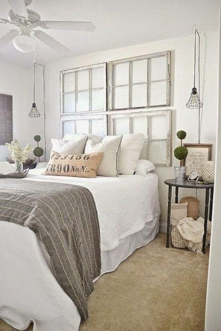 Master bedroom headboard ideas   Comfy Farmhouse Bedroom Design and Decor Ideas in   Timeless