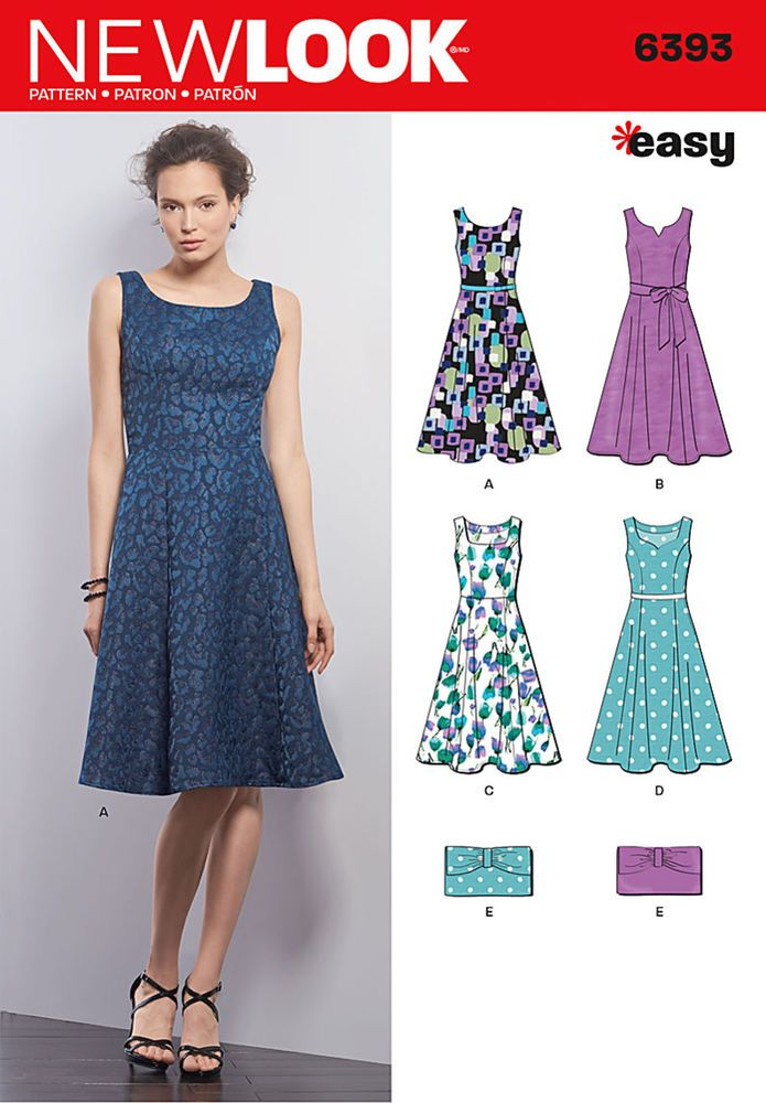 dress pattern with scoop, square, sweetheart or notched scoop ...