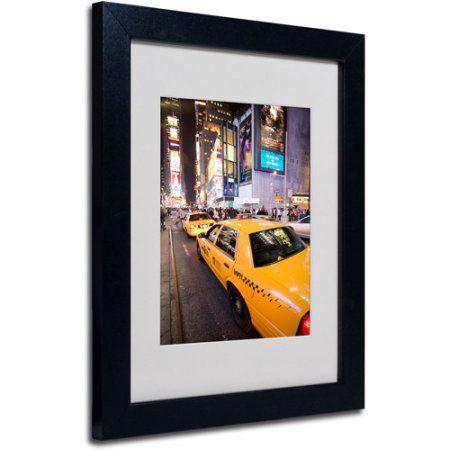 Trademark Art 'Big Lights' Matted Framed Art by Yale Gurney, Size: 11 x 14, Multicolor