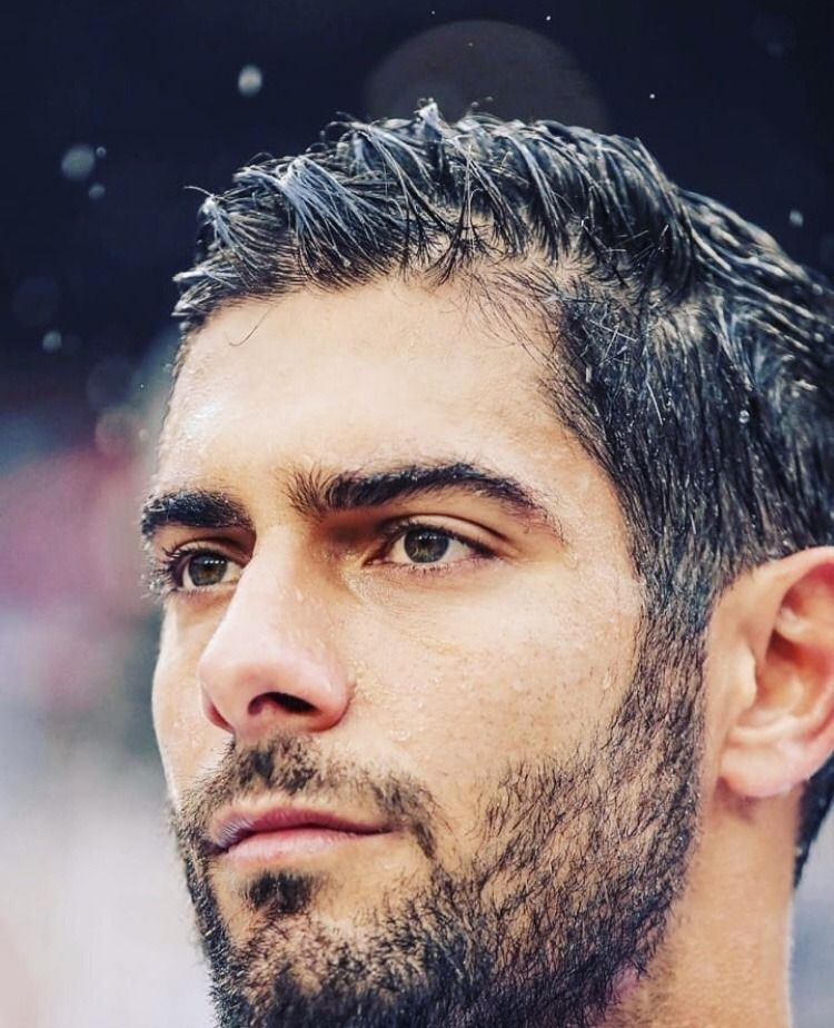 Jimmy Garoppolo — First post goes to Jimmy in the rain