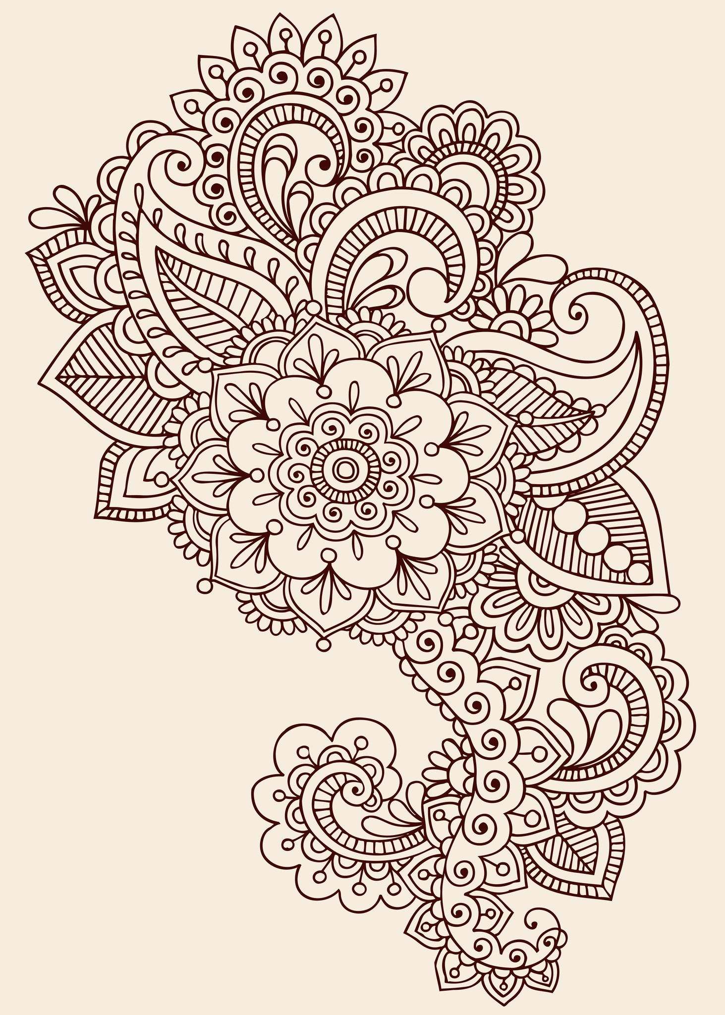 Paisley designs paisley henna tattoo design henna pinterest