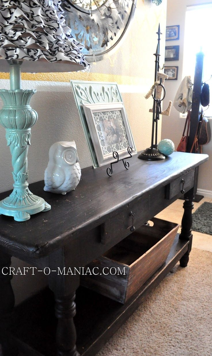 Home decor new entry table from craigslist i love a good double home decor new entry table from craigslist i love a good double layered console table geotapseo Image collections