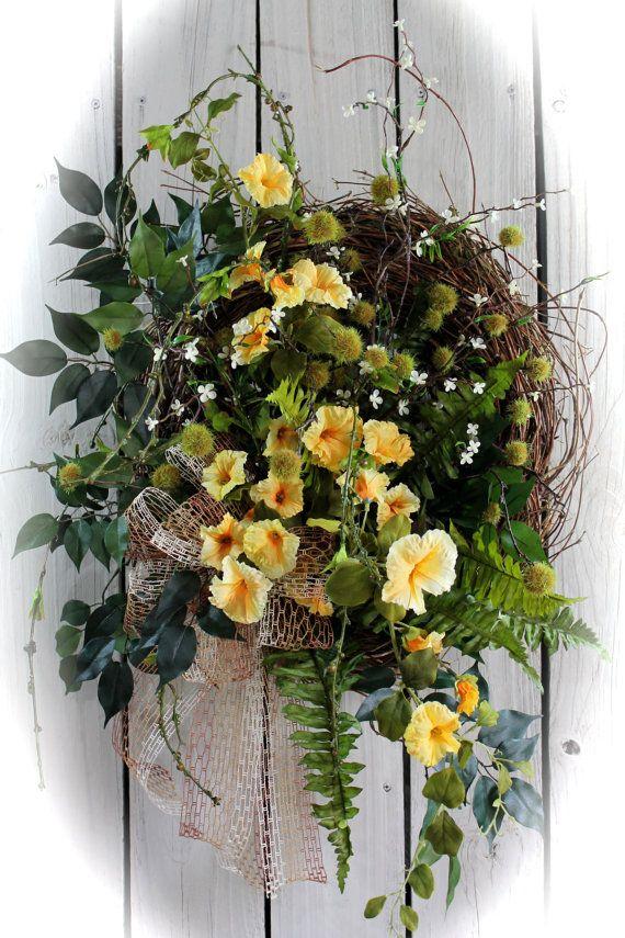 On Sale Front Door Wreath Wildflower Wreath Country Door Wreath