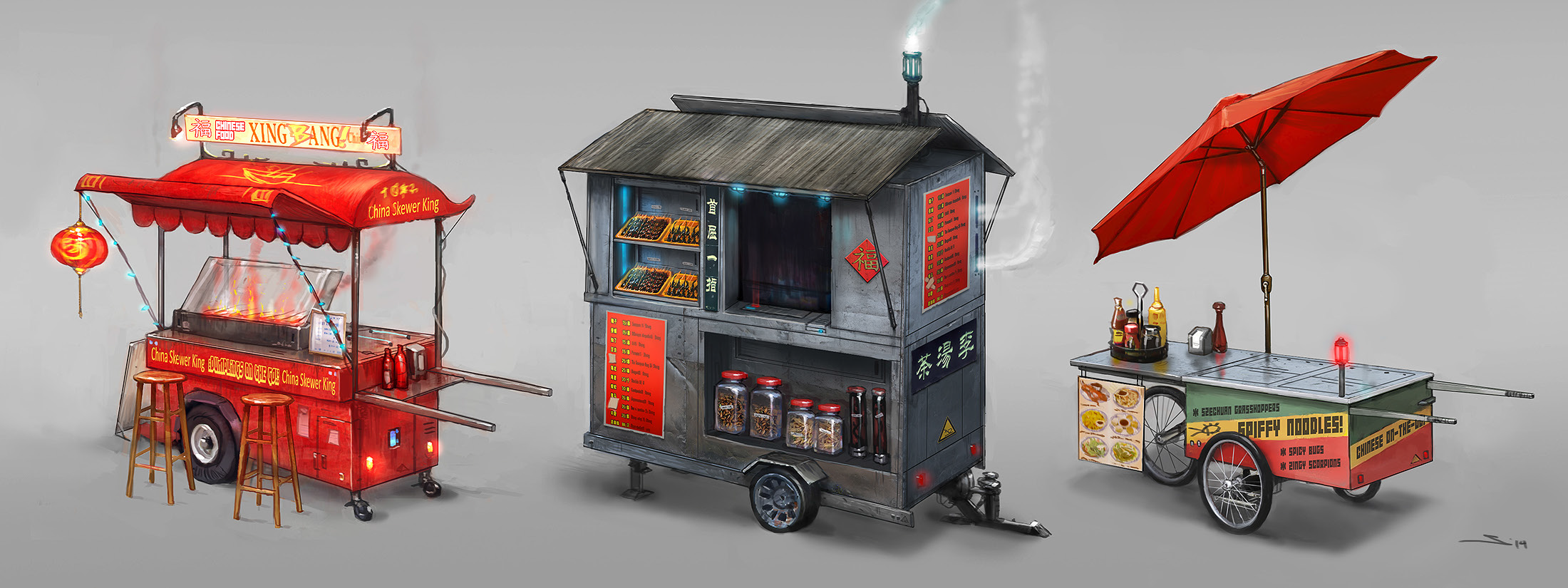 Art Of Dreamfall Chapters Reborn Chinese Stalls And Food Carts Food Cart Design Chinese New Year Food Food Cart