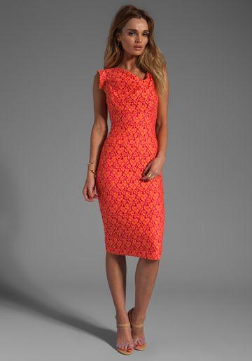 Lauren conrad red black halo dress