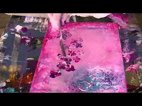 Abstract Acrylic Painting Demo Acrylmalen Abstrakt Im Grossformat