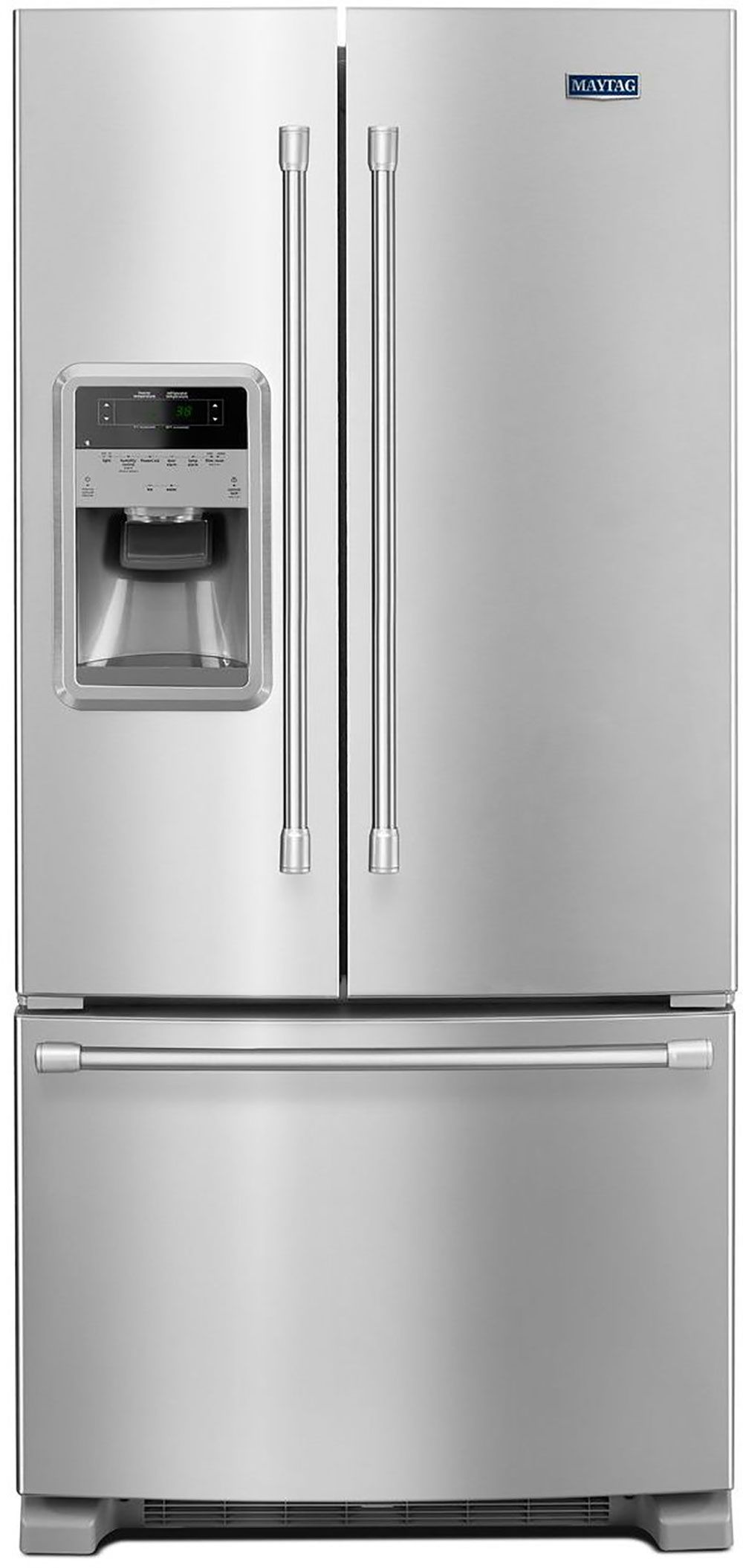 Maytag stainless 22 cuft french door fridge with ice and water maytag stainless 22 cuft french door fridge with ice and water dispenser mfi2269drm rubansaba