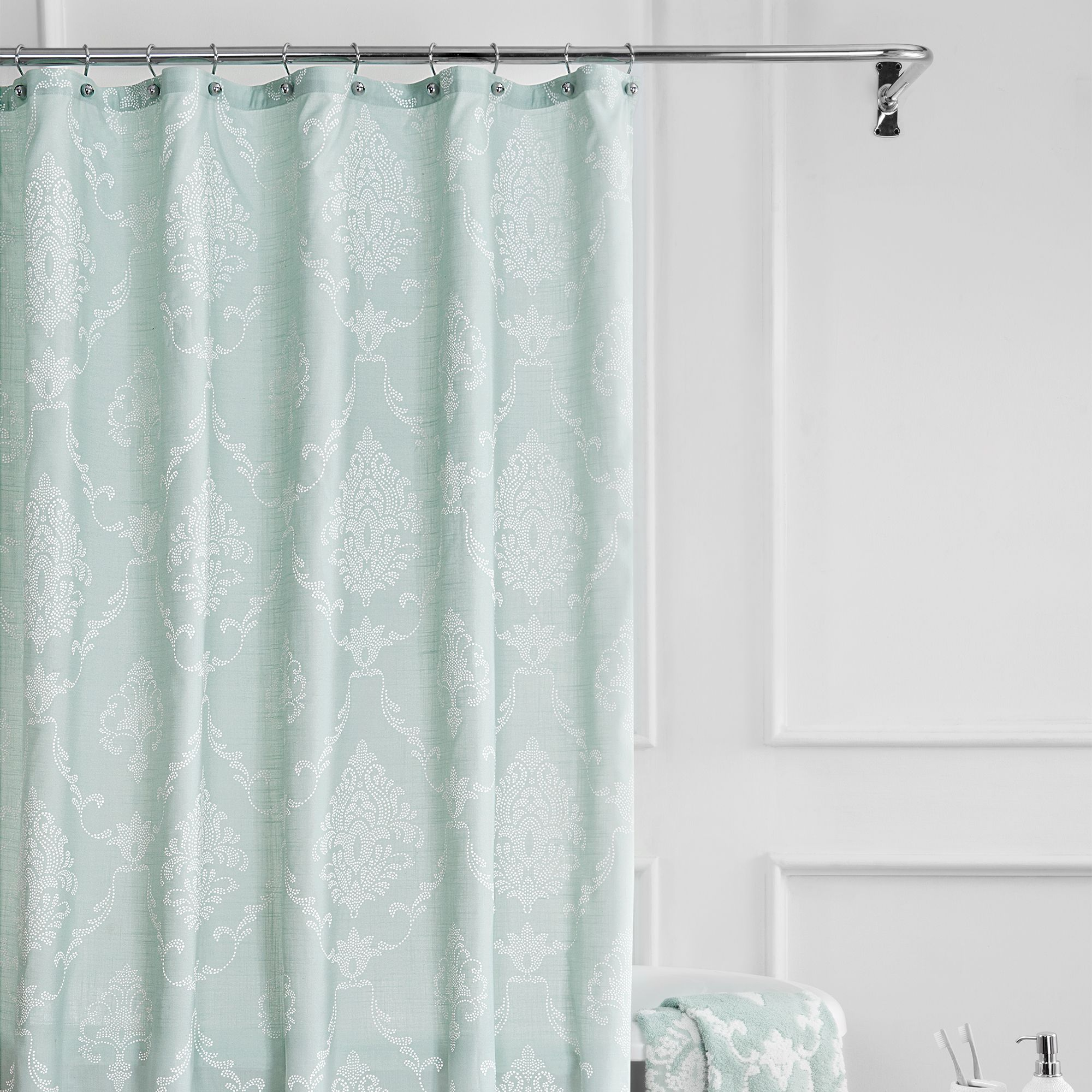 juno shower curtain green shower