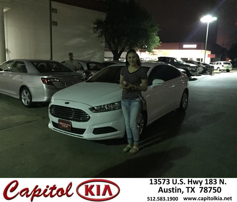 Congratulations Glenn on your Ford Fusion from Ivan