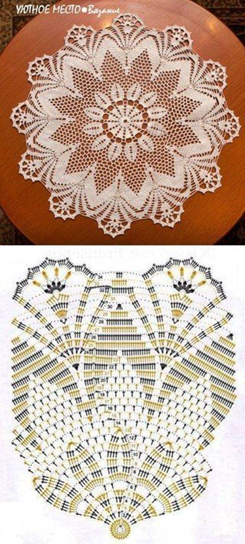6c360c6ceae73f9c88ceb0ab6847a095.jpg (656×1453) | Crochet doilies ...