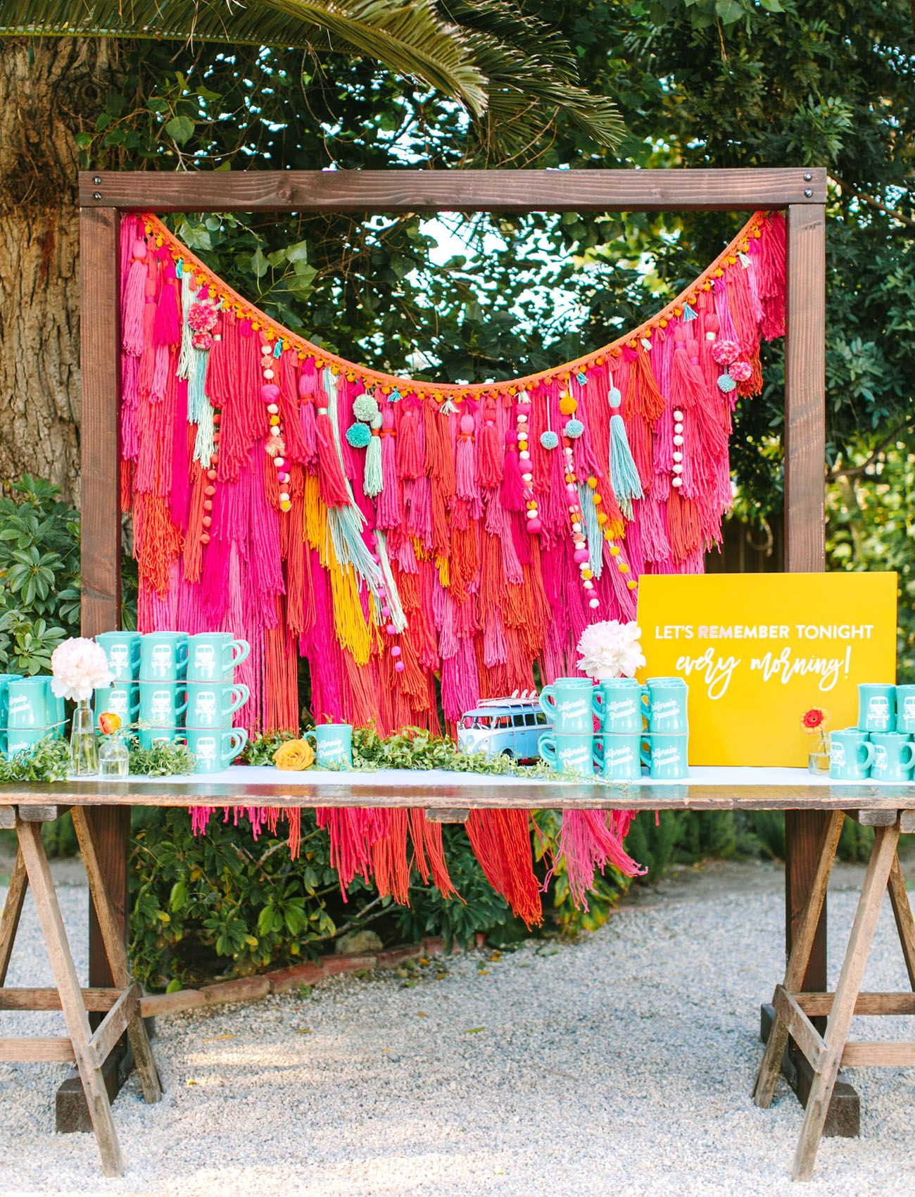 Wedding decorations to make february 2019 Brilliantly Bold  Colorful California Wedding with Tons of Musical