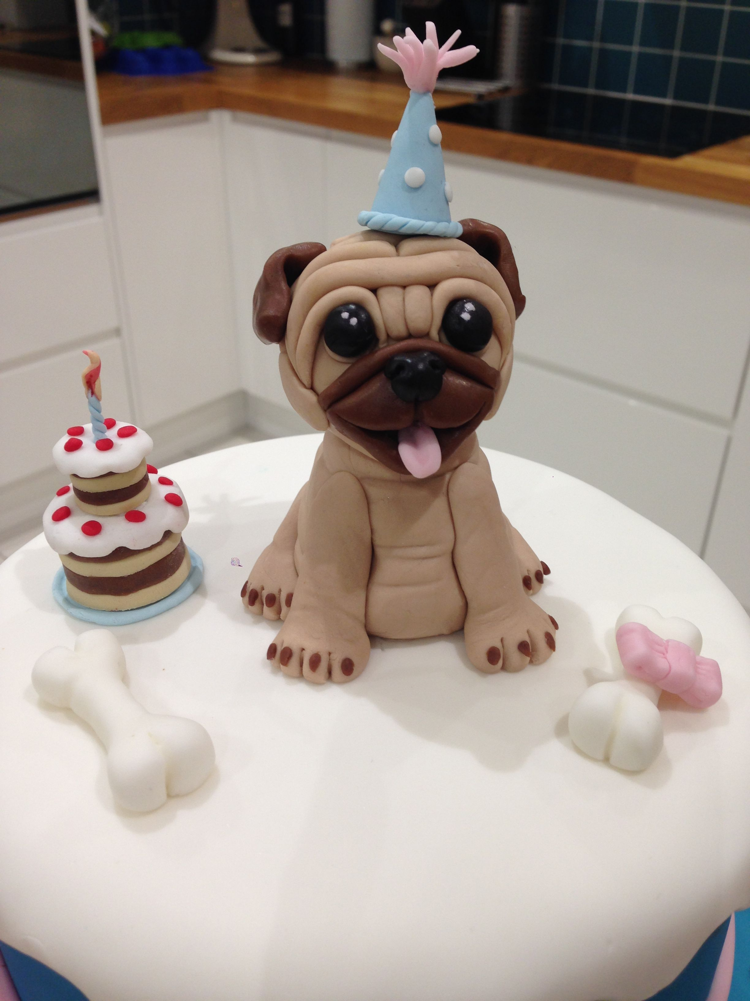 Pug cake topper | Pug cake, Cake toppers, Birthday candles