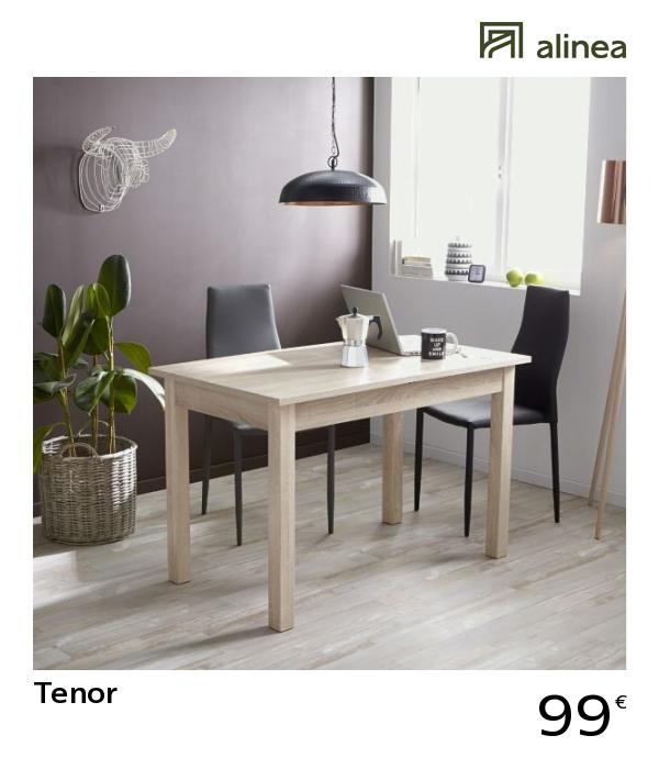 Allonge Avec L120cm À L160cm Rectangulaire Table AlineaTenor 4 UqpzMSVG