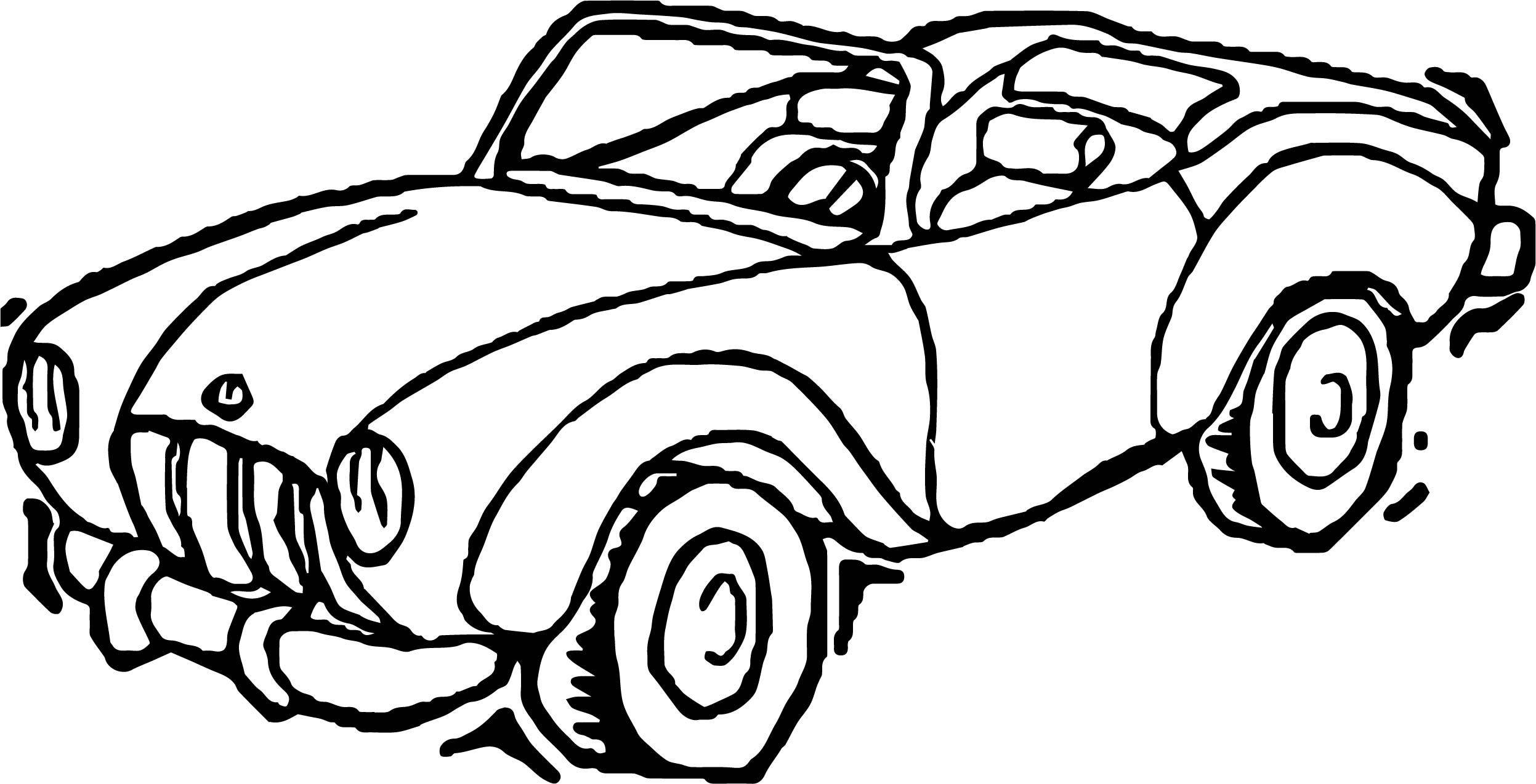Toy Car Classical Coloring Page | wecoloringpage | Pinterest