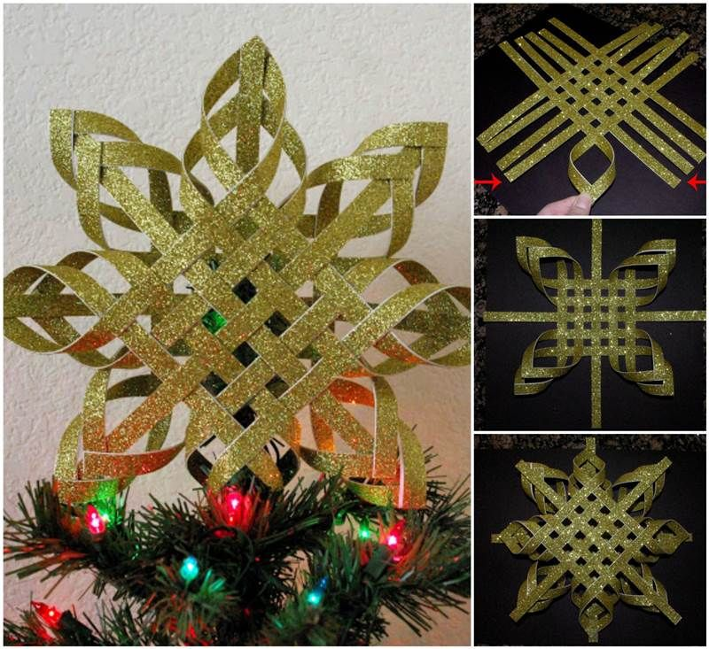 Creative Ideas – DIY Woven Paper Snowflake Ornaments | Christmas ...