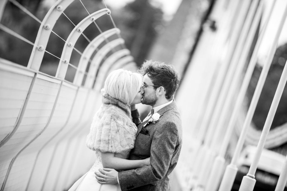 Kisses on the Clifton Suspension Bridge