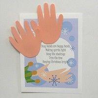 HANDPRINT CHRISTMAS POEM Create This Christmas Handprint To Spread Cheer