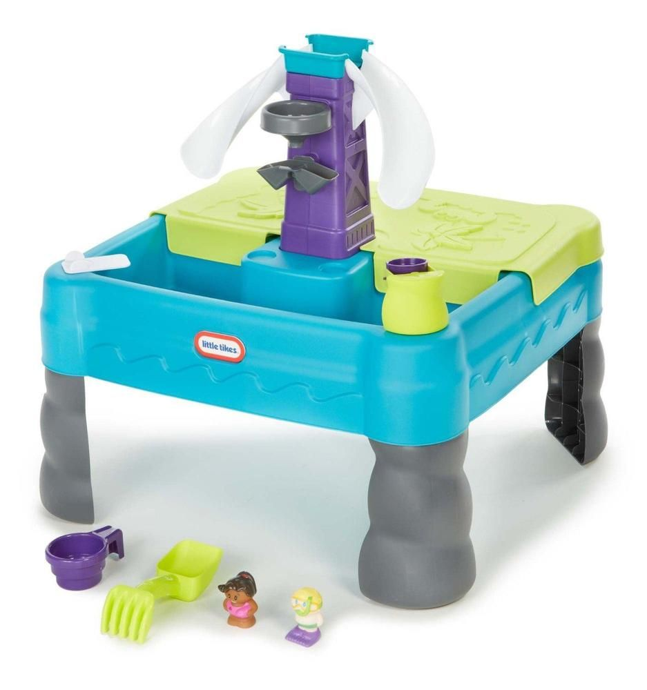 Kids Play Table Little Tikes Sand Lagoon Waterpark Teal Green ...