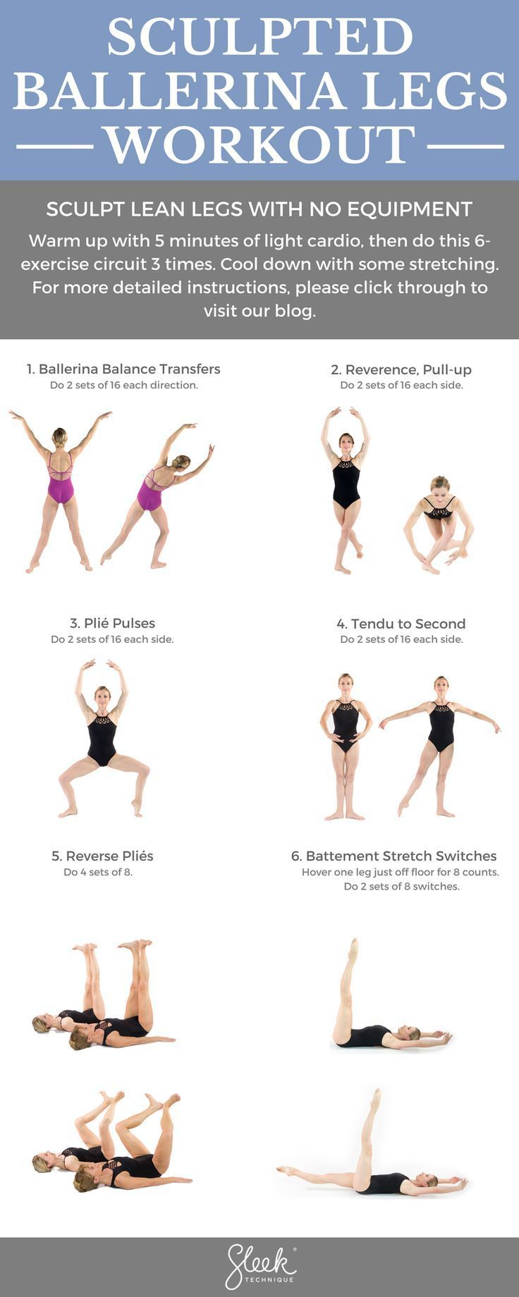 Sculpted Ballerina Legs Workout #balletfitness