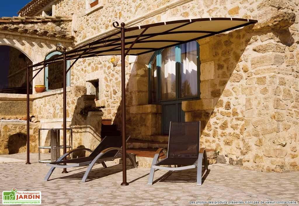 Tonnelle fer forg adoss e illusion 4x3 m tonnelle - Tonnelle de terrasse adossee ...
