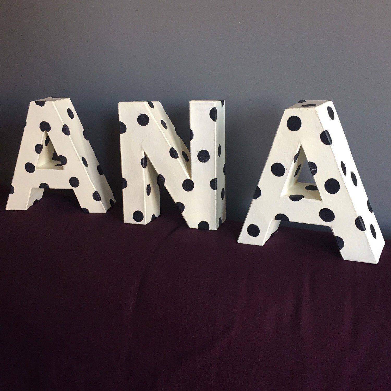 A Ana le va a encantar colocar su nombre como decoración personalizada