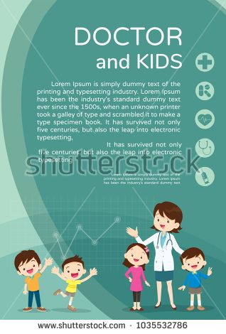 Doctor And Children Healthcare Background PosterDoctor For Kids Bannerlayout Templatecover