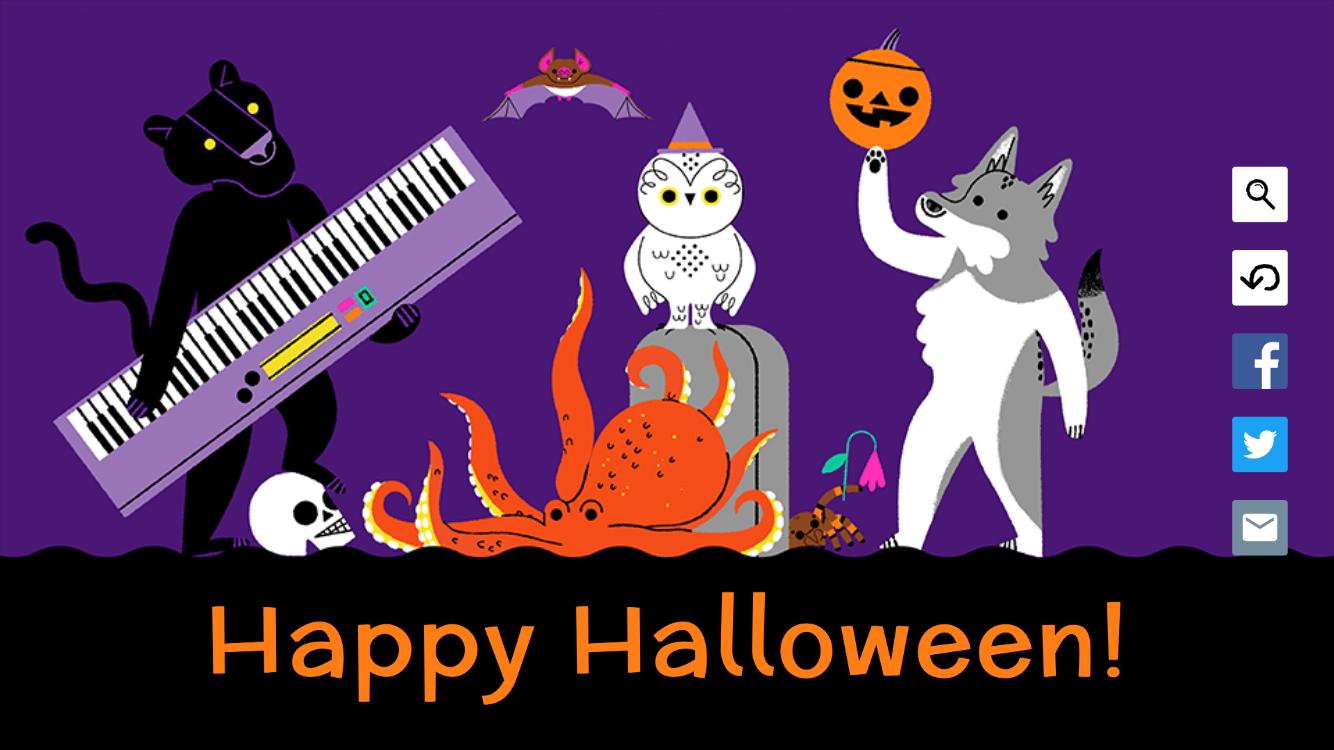 Happy Halloween in 2020 Google doodle halloween