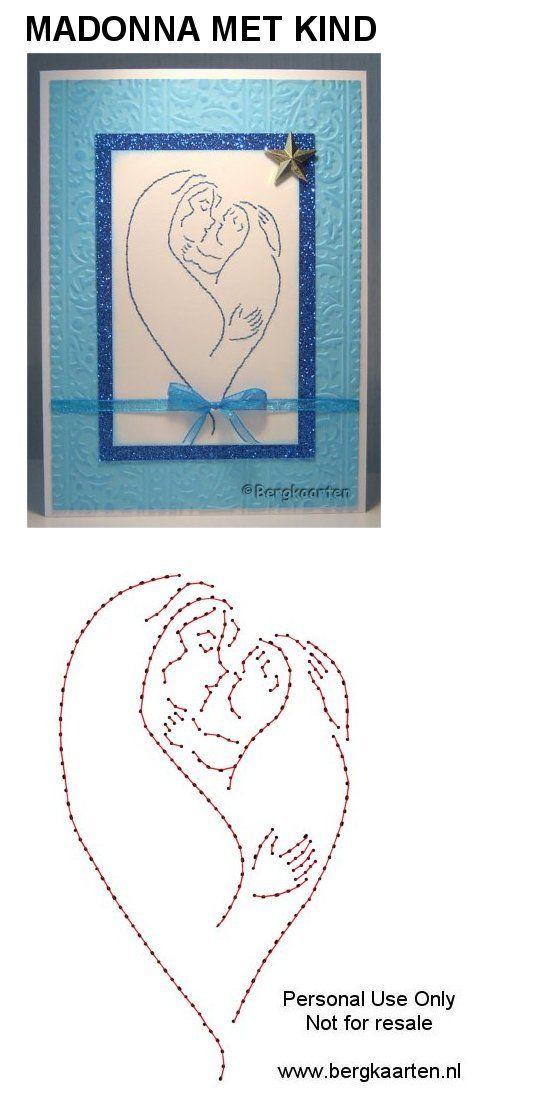 Maria mit Kind | FG-Vorlagen | Pinterest | Faden, Fadengrafik und Karten