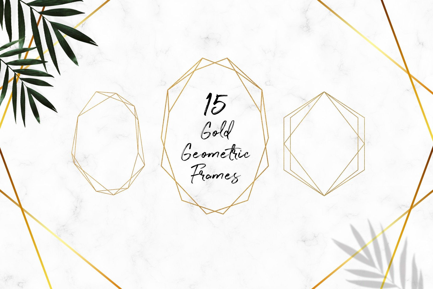 Gold Frames Clipart Gold Glitter Geometric Frames Clipart Etsy Frame Clipart Gold Frame Gold Geometric