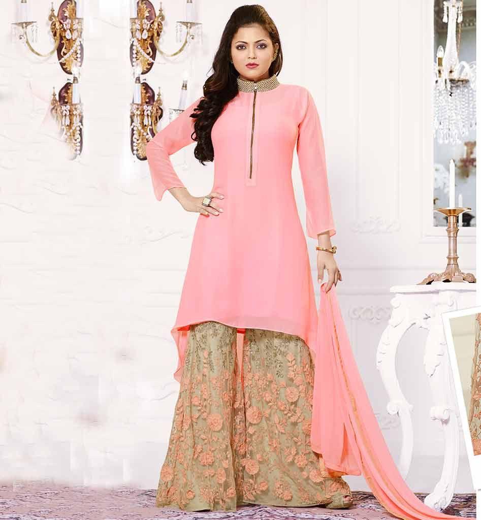 Bollywood pallazo salwar kameez online shopping ltnt70007 ...
