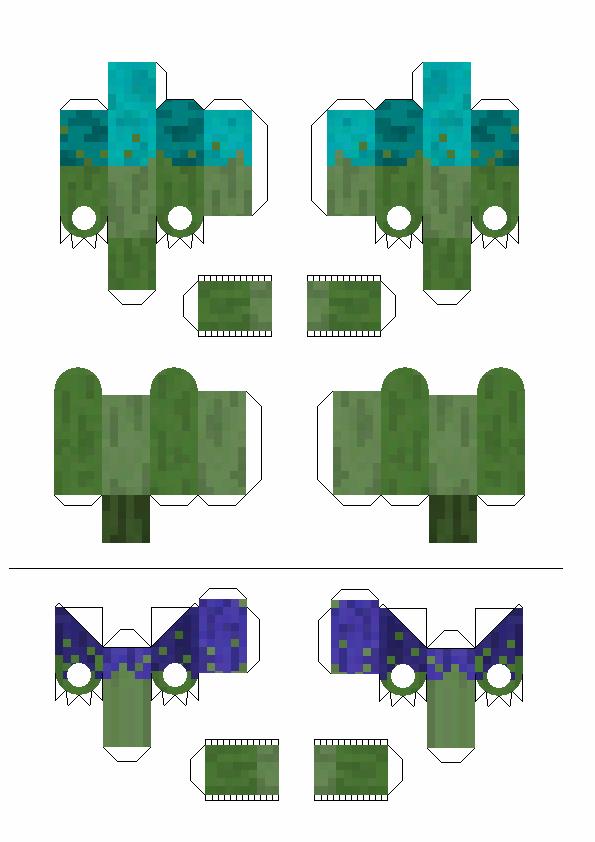 Papercraft Movable Mutant Zombie No Toothpicks Minecraft Templates Minecraft Crafts Paper Crafts