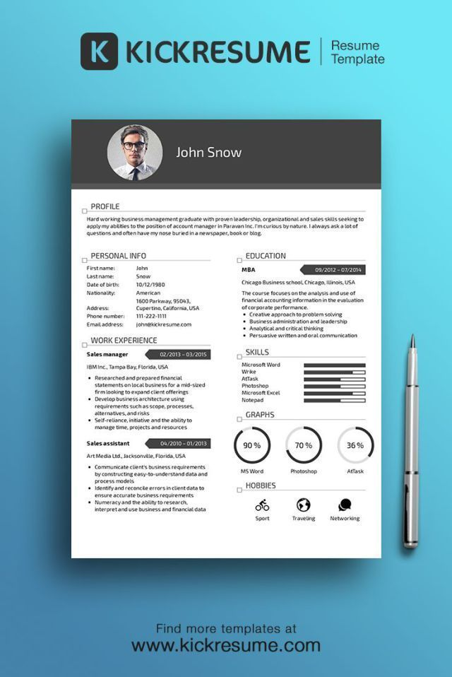 Business infographic  Business infographic  Resume  Create - perfect business resume