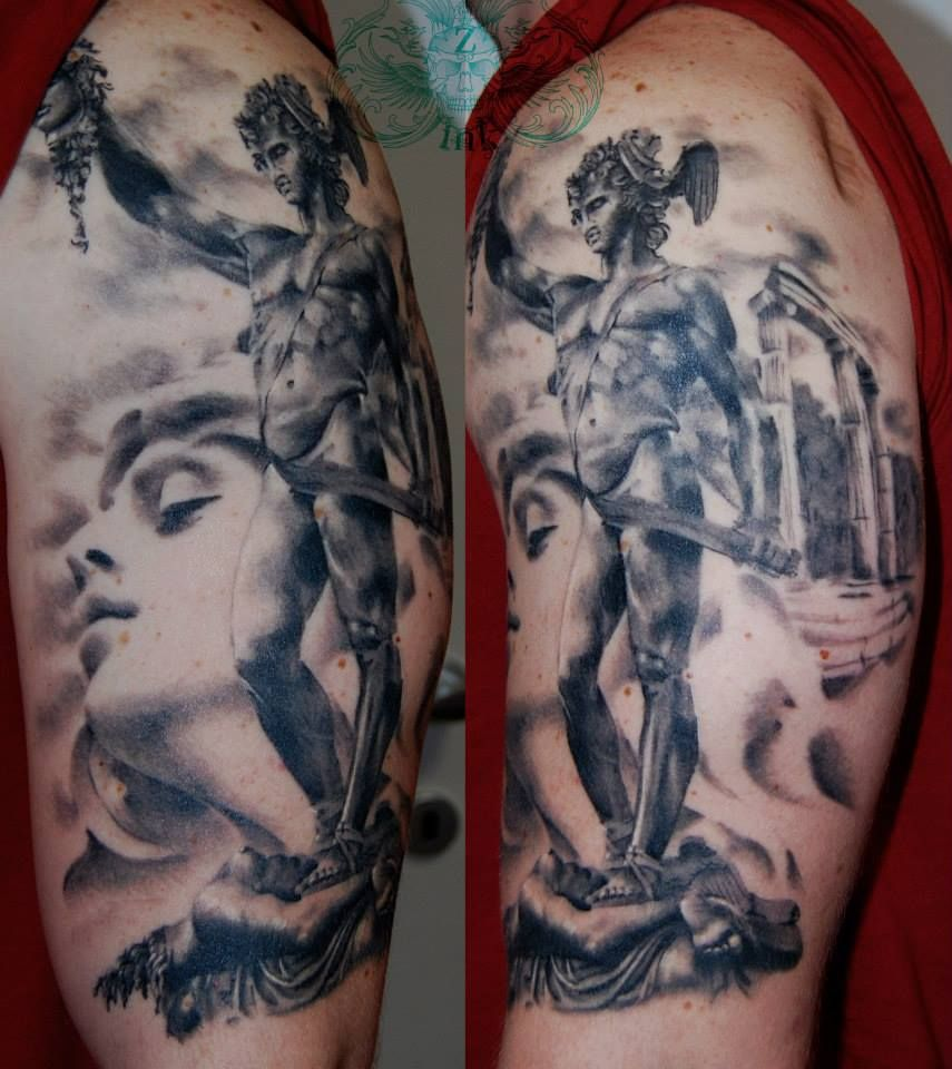 40 Perseus Tattoo Designs For Men – Greek Mythology Ink Ideas picture