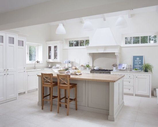 Classic Contemporary Kitchen decorating, contemporary kitchen design with comely white farrow