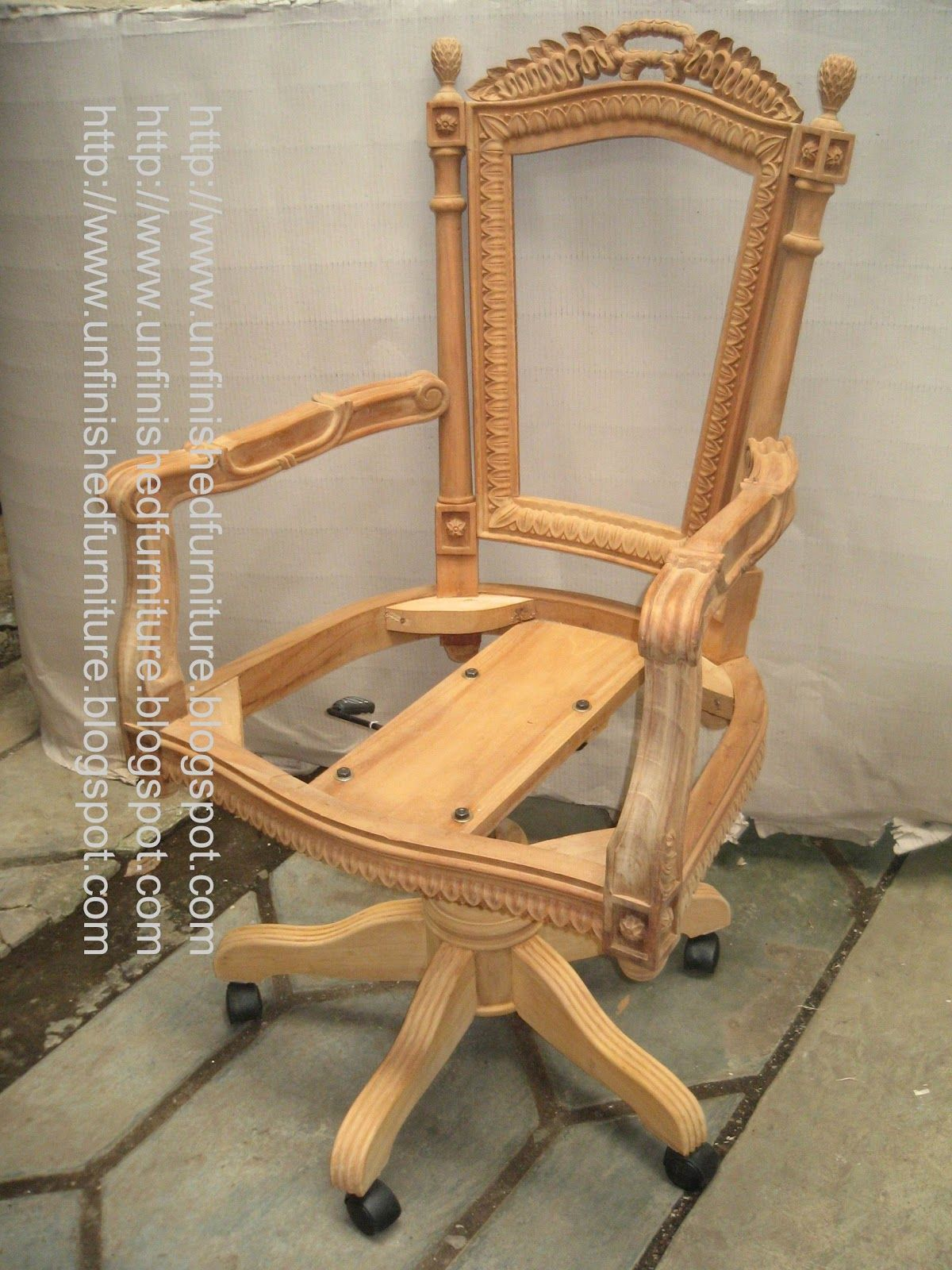 Unfinished classic furniture classic chair wooden frame classic