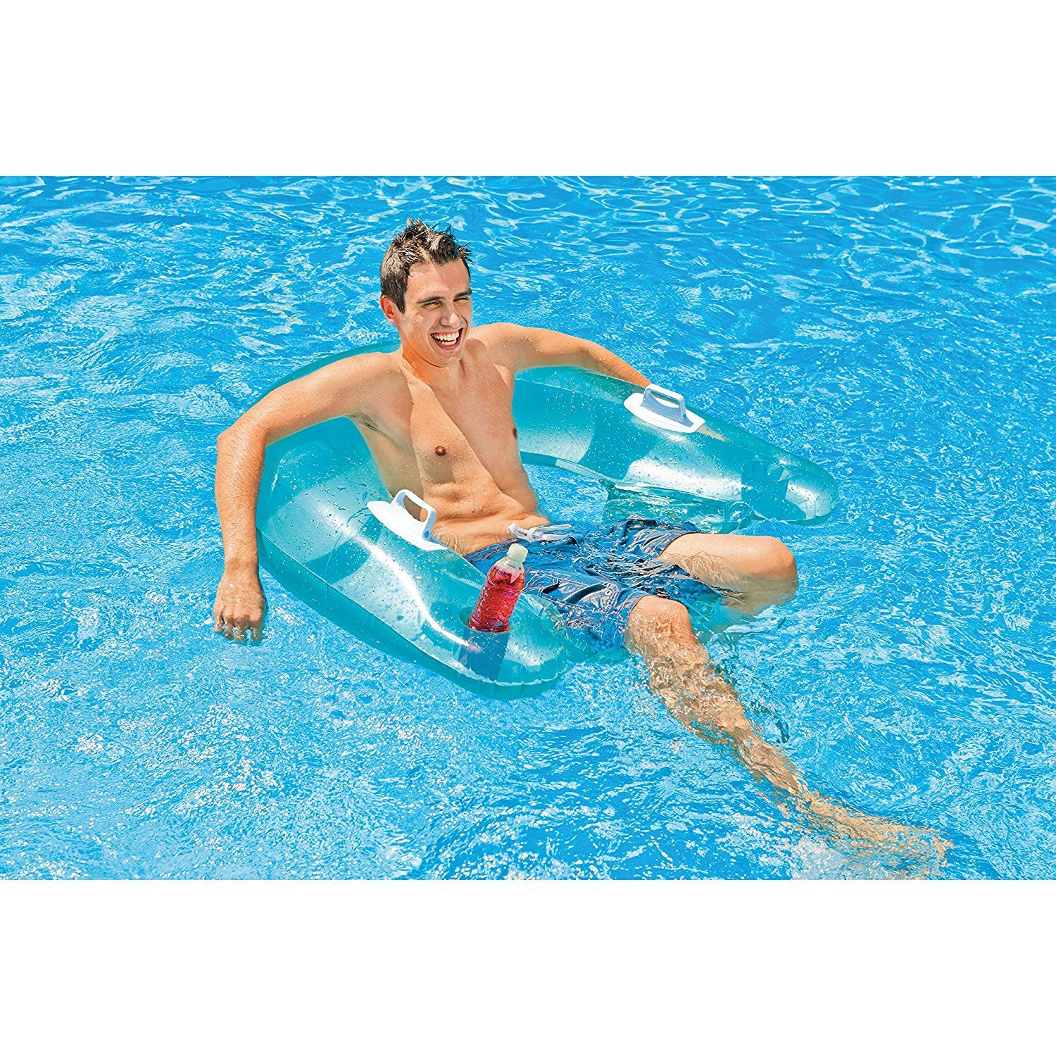 Inflatable Swimming Pool Float Floating Chair Lounger Tube Air Mattress  Lake New For Like The Inflatable Swimming Pool Float Floating Chair Lounger  Tube Air ...