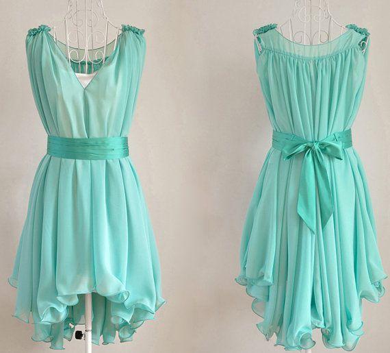 Chiffon dress 035 by YL1dress on Etsy, $59.00