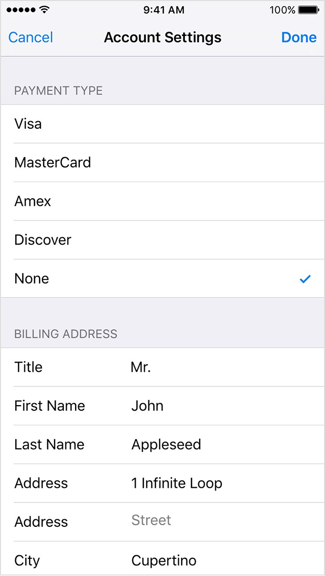 Change or remove your Apple ID payment information Apple